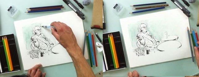 etapes dessin aquarelle facile 2