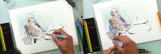 etapes dessin aquarelle facile 4