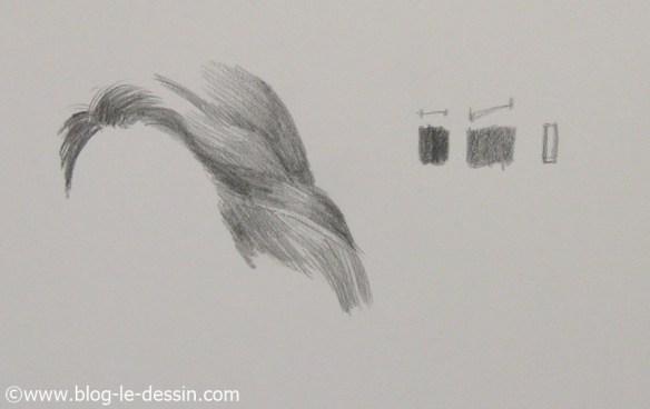 Comment dessiner les cheveux bruns et choisir le gris qui convient.