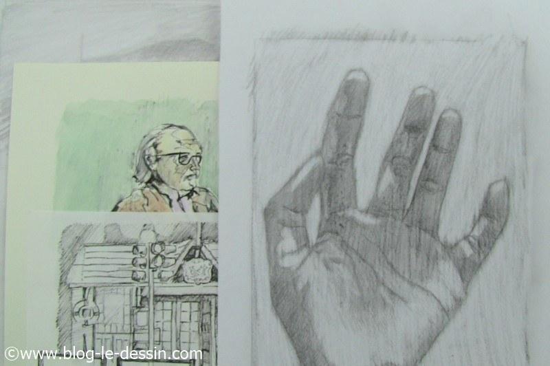 La technique du dessin avec le cerveau droit permet de donner un aspect fini grace au fond.