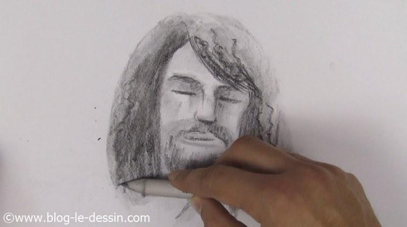 estompe portrait fusain et pierre noire