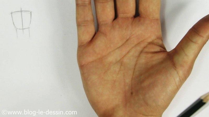 spatule dessin main je dessine une forme geometrique pour simplifier la main