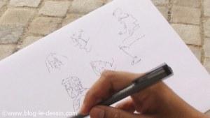 une petite planche ou je dessine les personnes dans la rue