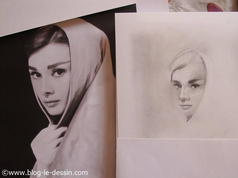 transformer une photo en portrait fusain etape 1 illustration