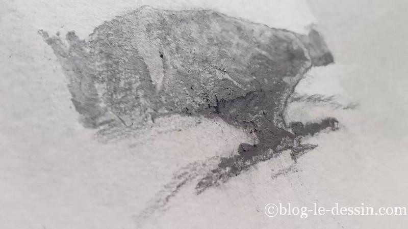 épaisseur poudre graphite sur modèle
