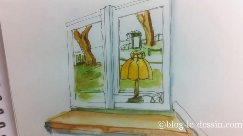 peinture aquarelle essai