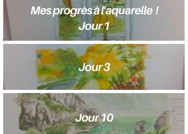 progres aquarelle