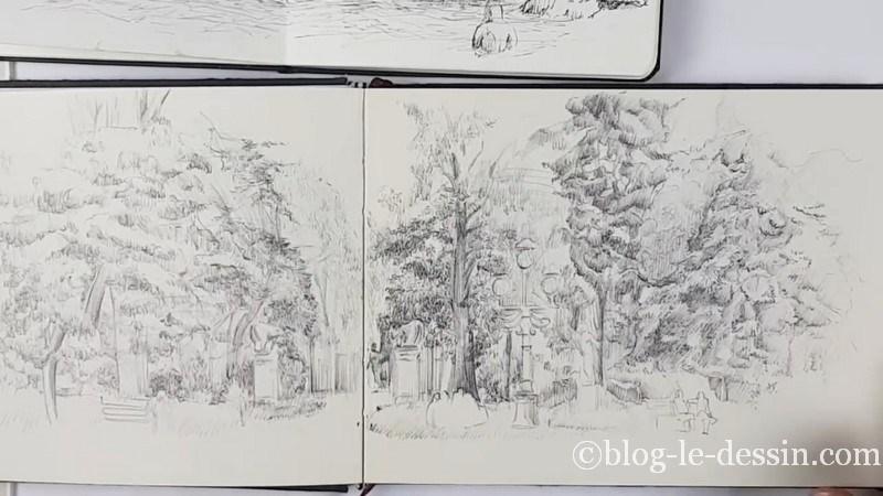 Exemple texture feuille dessine jardin