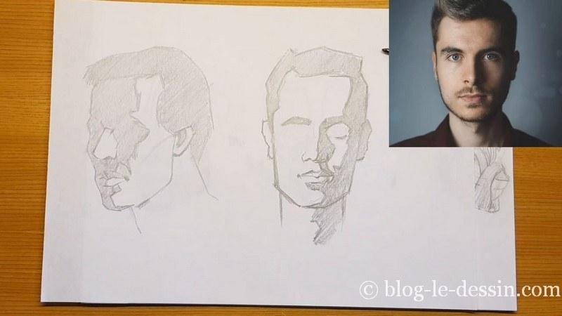 illusttrattion finale ebauche ombres visage