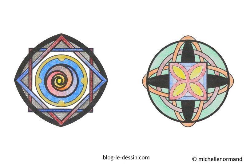 Faire un coloriage anti-stress en couleur, mandala, coloriage de mandala