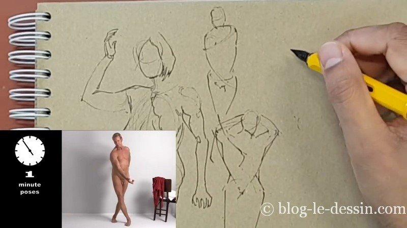 ebauche rapide dessin homme