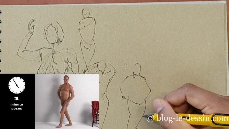 dessiner homme jambe croisee