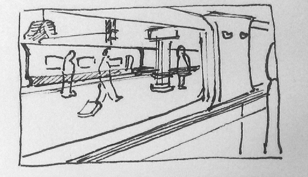 dessiner dans le train