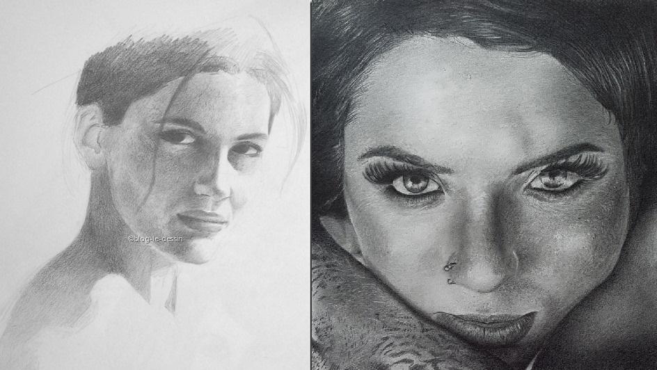 le contraste en dessin