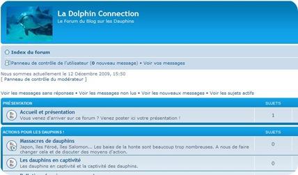 La Dolphin Connection, le forum du Blog sur les dauphins