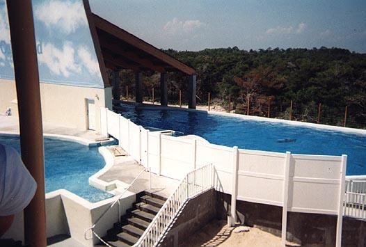 Un bassin du Clearwater Marine Aquarium, où se trouve le dauphin Winter