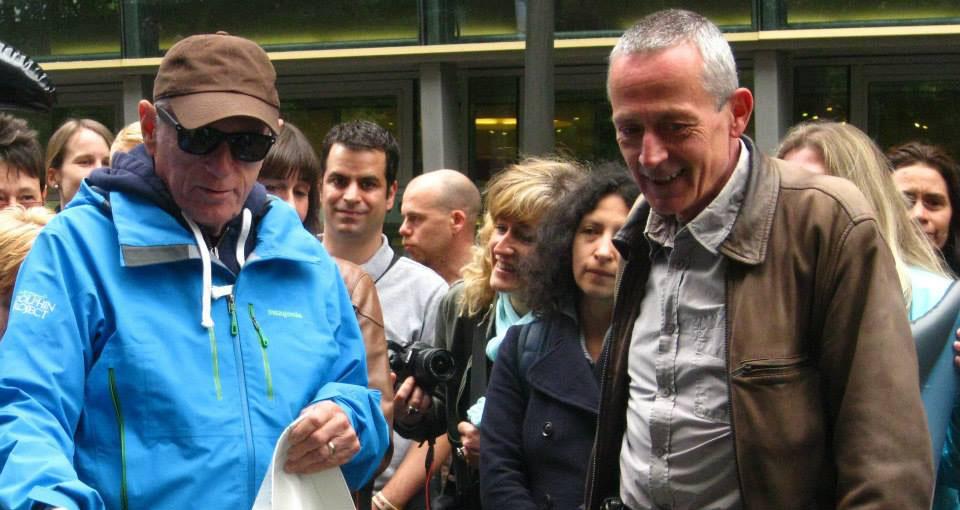 Ric O'Barry et Yvon Godefroid à Bruxelles