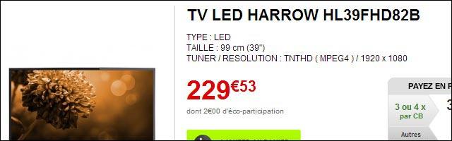harrow hl39fhd82b electrodepot