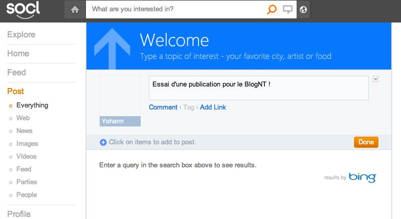 Le réseau social de Microsoft, So.cl, n'est plus destiné seulement aux étudiants - Recherche dans So.cl affiche les résultats de Bing