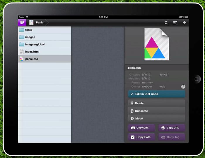 Panic lance deux nouvelles applications de développement Web : Coda 2 pour Mac et Diet Coda pour iPad - Diet Coda pour iPad