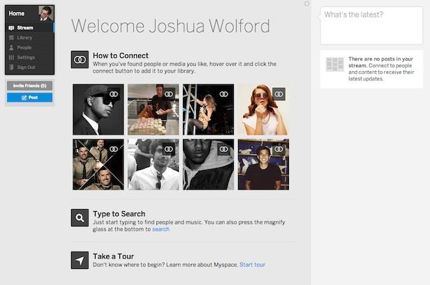 Un tout nouveau Myspace : un premier regard sur l'énorme refonte de la plateforme - Nouvelle page d'accueil de Myspace