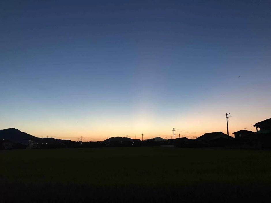 夕陽が沈むとき〜