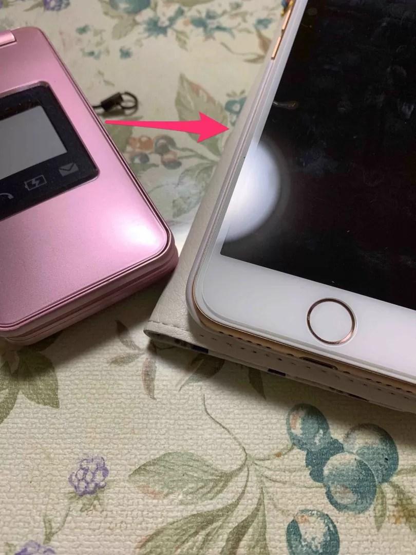 ガラケーとiPhoneの写真