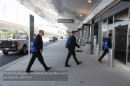 Team heads to the airport