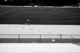 """CAROLINA"" painted on the track."