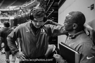 Jacob Kasper and Coach Lanham.