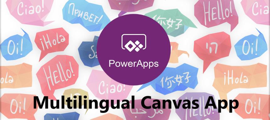Multilingual Canvas App