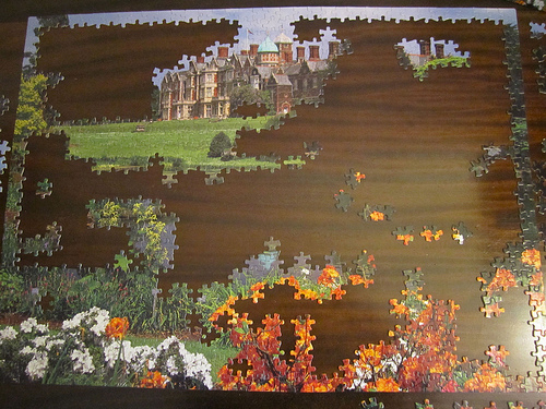 Image result for partially complete puzzle