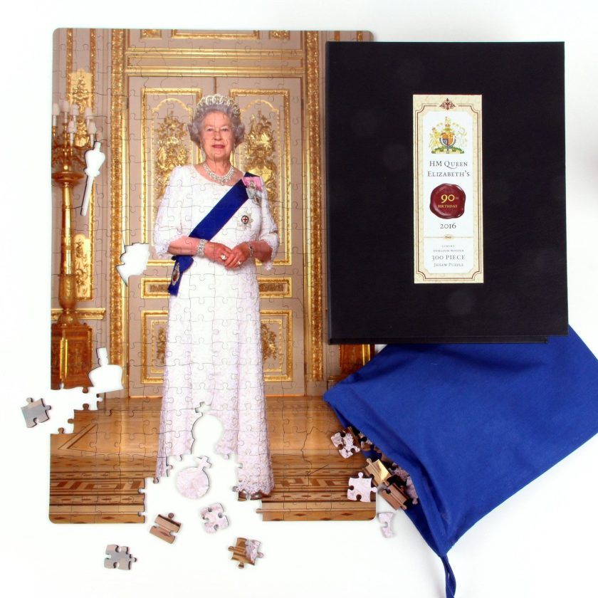 QUEEN ELIZABETH'S 90TH BIRTHDAY HEIRLOOM WOODEN JIGSAW PUZZLE