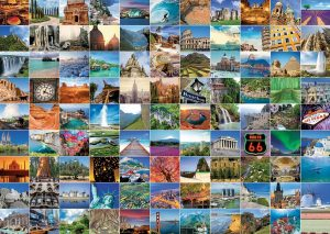 99 Beautiful Places on earth 1000 piece jigsaw puzzle