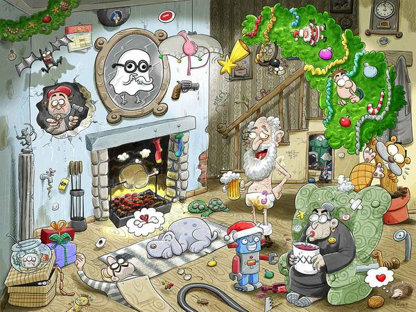Christmas at Chaos House Christmas Jigsaw puzzle