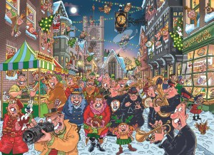 Wasgij Christmas 12 The Big Turn on - Christmas Jigsaw Puzzle