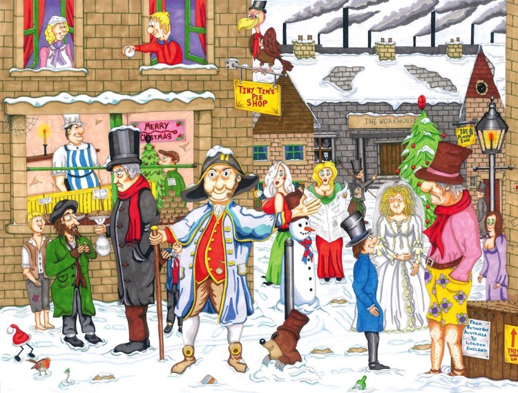 Dickensian Yuletide Jigsaw Puzzle