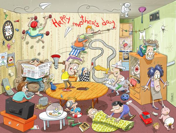Mother_s_Day_Chaos_exclusive_jigsaw_puzzle
