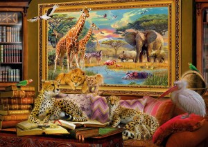 The Savannah Comes to Life 1000 Piece Jigsaw Puzzle