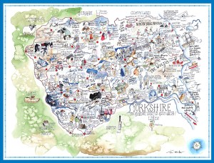 Yorkshire County Map by Tim Bulmer