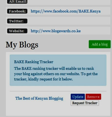 How to register blog on BAKE