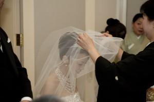 福岡 ブライダル撮影 ウエディングアルバム 結婚式の写真 披露宴の写真 0358ベールダウン