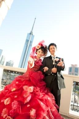 福岡 写真スタジオ 大名 ブライダル写真 ウエディング撮影 披露宴の写真 スナップ撮影 0358 オシャレ