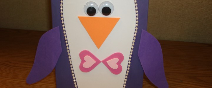 How to Make a Penguin Valentines Box