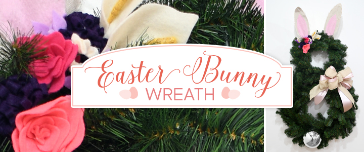 DIY Easter Bunny Wreath
