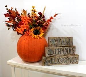 Thankful and Blessed Fall Decor