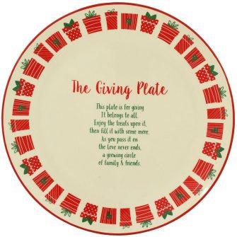 The Giving Plate Christmas Platter