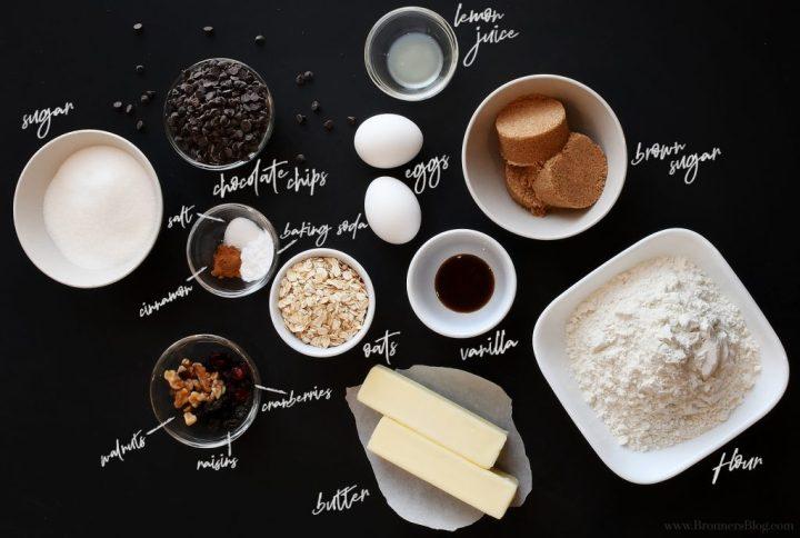 Totally Tasty Chocolate Chip Cookies Ingredients