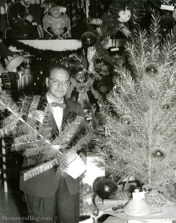 Wally Bronner With Foil Trees