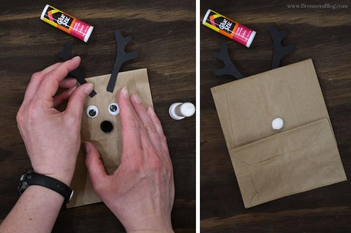 Glue eyeball s, pom-poms and antlers.
